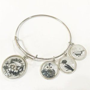 Nature Inspired Silver Bangle Expandable Charm NEW